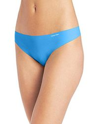 CALVIN KLEIN 205W39NYC - Blue Invisibles Thong - Lyst