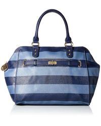 Tommy Hilfiger Blue Helen Satchel Bag