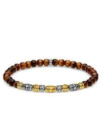 Vermeil Bracelet statement - A1921-966-2-L17 Thomas Sabo en coloris Brown