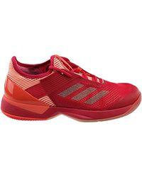 Adidas Red Adizero Ubersonic 3 W Tennis Shoe