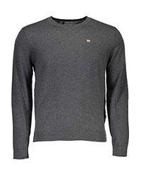 Napapijri Gray N0yhe6h74 Decatur 1 Sweater for men