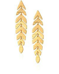 Kate Spade Metallic S Linear Drop Earrings, Gold