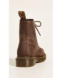 Dr. Martens Brown 1460 Originals Union Jack 8 Eye Lace Up Boot