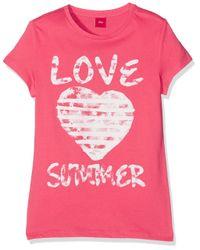 S.oliver Pink Mädchen T-Shirt Kurzarm
