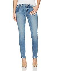 PAIGE - Blue Skyline Ankle Peg Jeans - Lyst