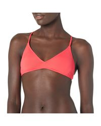 Solid Beach Classics Athletic Bikini Top Roxy en coloris Multicolor