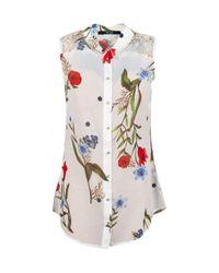 Camicia Donna Bianca A Fiori di Guess in White