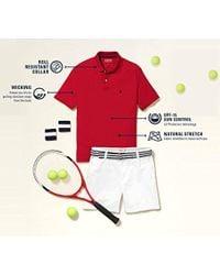 Izod Blue Slim Fit Advantage Performance Short Sleeve Solid Polo for men