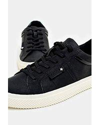 Esprit Black Sneaker in Nubuk-Optik