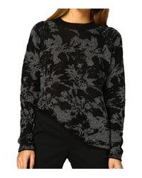 Pullover a iche Lunghe Maglione da Donna a Caduta Libera con Dettagli Metallici Neri di Vero Moda in Black