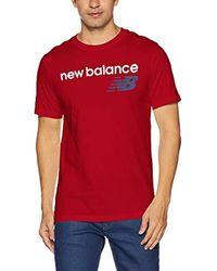 New Balance Herren NB Athletics Main Logo T-Shirt in Red für Herren