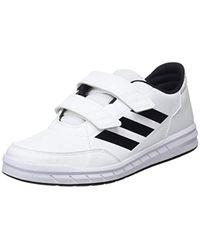 AltaSport CF K, Chaussures de Gymnastique Mixte Enfant Adidas en coloris White