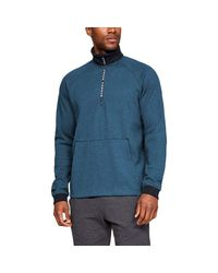 Under Armour Blue Unstoppable 2x Knit 1/2 Zip Half for men