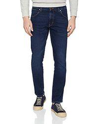 Wrangler Blue Larston Slim Jeans for men