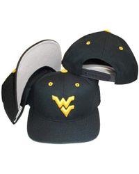 PUMA West Virginia Mountaineers Vintage Blue Snapback Adjustable Plastic Snap Back Hat/cap for men