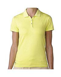 Adidas Yellow Golf Seamless Polo Shirt
