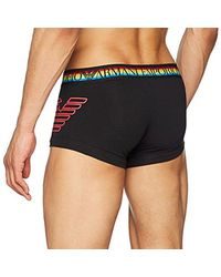 Emporio Armani Black Big Eagle Trunk for men