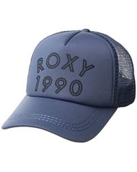 5ae28a1526f39 Lyst - Roxy Junior s Dig This Trucker Hat in Blue for Men