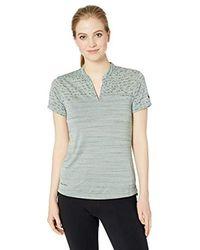 Nike Gray Damen Poloshirt W Nk Znl Cl Ss Sp Jqrd