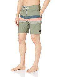 Rip Curl Green Rapture Layday Side Pocket Boardshorts for men