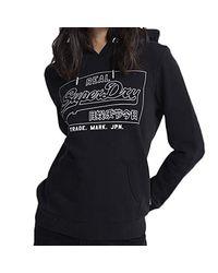 Sweat VL Outline Entry Hood Superdry en coloris Black