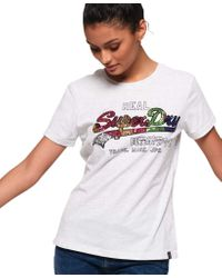 Superdry White Shirt Ice Marl