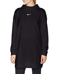 Nike Black Damen Hoodie Os Swoosh