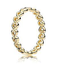 Bague Bijoux Taille 12 tendance cod. 167105 - 52 Pandora en coloris Metallic