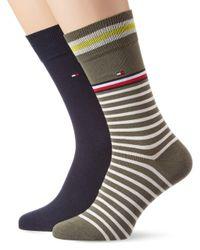 Th Sock 2p Collegiate Stripe Calcetines Tommy Hilfiger de hombre de color Multicolor