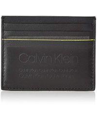 Porta carte di credito di Calvin Klein in Black da Uomo