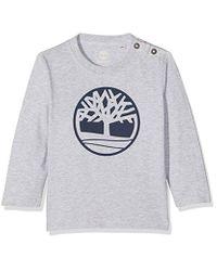 Tee-Shirt Manches Longues, T Bimba di Timberland in Gray