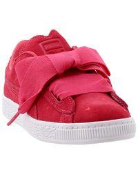 PUMA Red Kids s Suede Heart Valentine (Little Kid)
