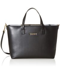 Tommy Hilfiger Black Iconic Tommy Satchel Solid