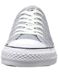 Converse Gray Unisex Adults' Ctas Ox Wolf Grey White Trainers for men