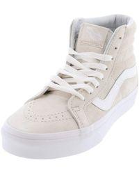 Sk8-Hi Reissue Baskets hautes en daim e Vans en coloris White