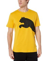 PUMA Yellow Big Logo Tee for men