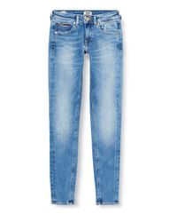 Tommy Hilfiger Blue Scarlett Low Rise Skinny Vctyl Straight Jeans