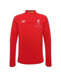 New Balance Red Liverpool Fc Grey Long Sleeve S Football Training Midlayer Shirt 2018/2019 Lfc Official Store for men