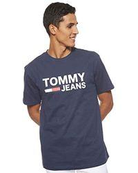 Tommy Hilfiger TJM Tommy Classics Logo Tee Freizeithemd in Black für Herren