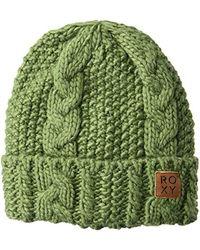 Roxy Green Beanie Hat