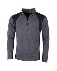 Calvin Klein Gray Golf S 2019 Micro Grid Layering Half Zip Baselayer for men
