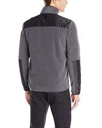 Calvin Klein - Multicolor Mixed-media Fleece Jacket for Men - Lyst