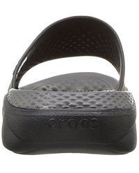 Crocs™ - Black Unisex Literide Slide for Men - Lyst