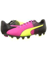 PUMA EvoSPEED 4.5 Tricks FG Fußballschuhe in Pink für Herren