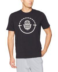 Cour UA Centre T-Shirt Under Armour pour homme en coloris Black