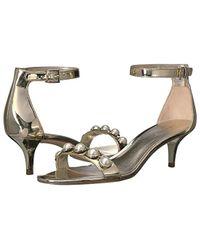 Nine West Metallic Lipstick 3 (light Gold Synthetic) Shoes
