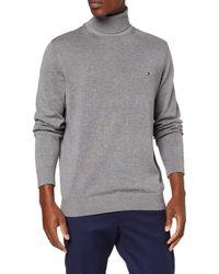 Tommy Hilfiger Gray Organic Cotton Silk Roll Neck Sweatshirt for men