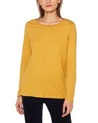 109ee1k003 Maglia a iche Lunghe di Esprit in Yellow