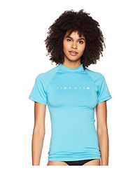 Rip Curl Blue Sunny Rays Relaxed Short Sleeve