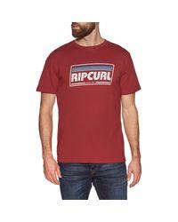 Maglietta a iche Corte Rosso di Rip Curl in Red da Uomo